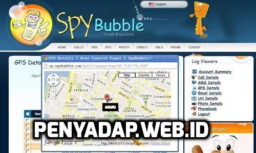 Lacak lokasi GPS SpyBubble - Spybubble