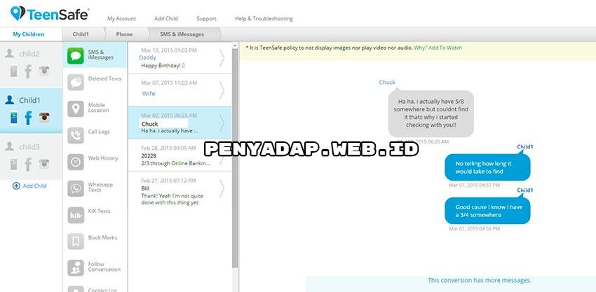 Penyadap hp iPhone & Android - pasangan selingkuh - TeenSafe