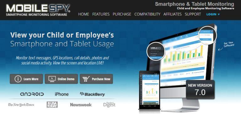 Screenshot situs [Mobile Spy] perangkat mata-mata ponsel smartphone